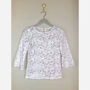 Miguelina Women's Bailey Rose White Lace Top